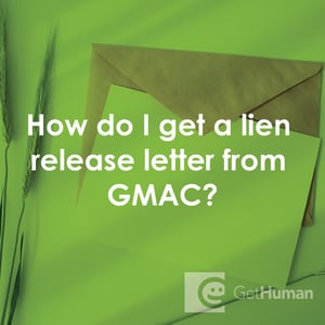 How Do I Get A Lien Release Letter From Gmac