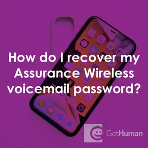 How Do I Recover My Assurance Wireless Voicemail Password